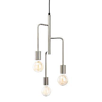Firstlight-3 lys loft vedhæng børstet stål-4866BS