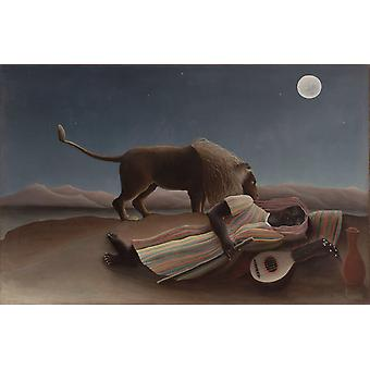 The Sleeping Gypsy, Henri Rousseau, 60x40cm