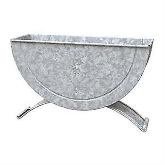 Panacea rustikale Metall halb Fass Wand oder Tabletop Pflanzer