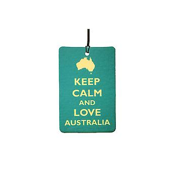 Keep Calm And Love Australia Car Air Freshener
