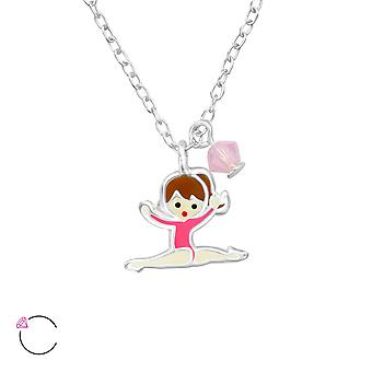 Gymnastics Girl - 925 Sterling Silver Necklaces - W32743X