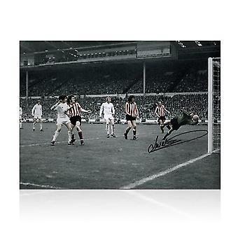 Jim Montgomery podpisana Sunderland Zdjęcie: 1973 FA Cup Final Wonder Save