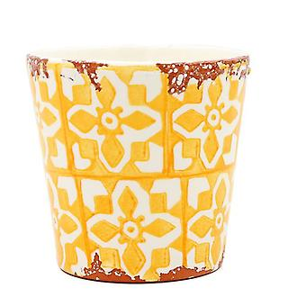 Eura Eura ceramic pot 14x12cm yellow (Decoration , Plants and pots)