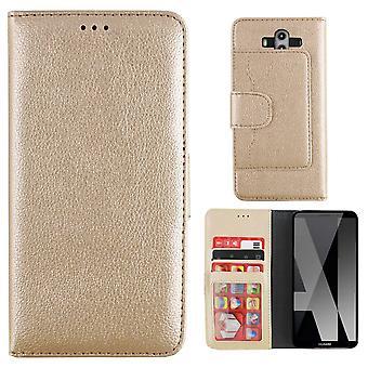 Huawei Mate 10 Pro Case Gold - Lompakkokotelo