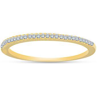 1/10ct Diamond Wedding Ring 14k Yellow Gold