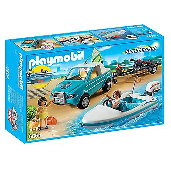 Playmobil 6864 Surfer Pick Up with Speedboat