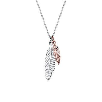 Elli Women's Necklace in Silver 925 with Feathers