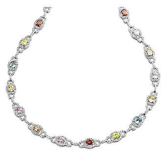 Orphelia Necklace Woman 925/Ooo Silver Sterling 44 cm Zircon Colors