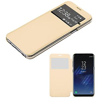 MYBAT Gold Silk Texture MyJacket (w/ Transparent Frosted Tray)(96A) pour Galaxy S8 Plus