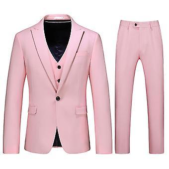 Alle Themen Men's Tuxedos Anzug 3-Stücke Hochzeit Bankett Business Jacke &Weste &Hose