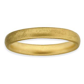 925 sterling sølv stables uttrykk 14k gullbelagt sateng ring smykker gaver til kvinner - ring størrelse: 5 til 7