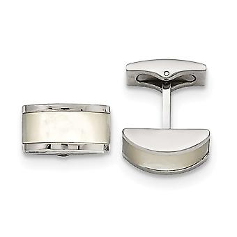 Stainless Steel Polished Cats Eye Cuff Links Jewelry Gifts for Men