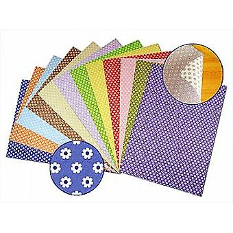 12 Mixed A4 Flower Two-Sided Card Sheets | Coloured Card for Crafts