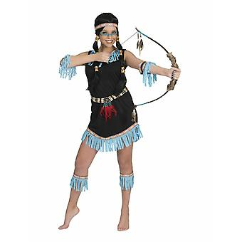 Sioux Indian kostym Fringe kvinnors vilda västern karneval kvinnors kostym