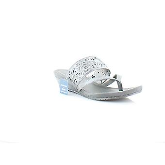 Kenneth Cole Reaction Great Chime Women's Sandals & Flip Flops Pewter Size 5 M
