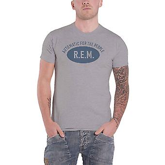REM R.E.M. T Shirt Automatic for the People Band Logo new Official Mens Grey