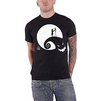 The Nightmare Before Christmas T Shirt Moon Oogie Boogie new Official Mens Black
