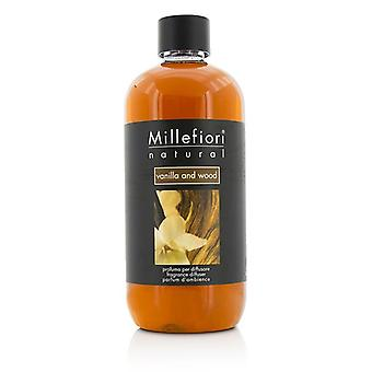 Millefiori Natural Fragrance Diffuser Refill - Vanilla & Wood - 500ml/16.9oz