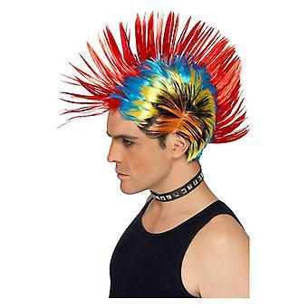 Hombres de los años 80 calle Punk Mohawk peluca disfraces accesorios