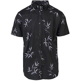 Rip Curl occupato Surf Day Short Sleeve Camicia in nero