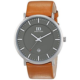 Danish Design mens-leather quartz wrist watch 3314515