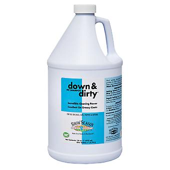 Showseason Down & Dirty Deep Cleansing Grease Removing Pet Shampoo, 3.8L