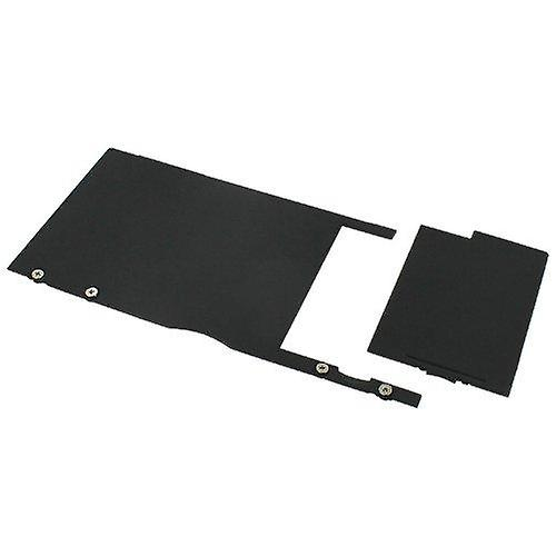 Quick release black rubberised battery cover for nintendo 3ds