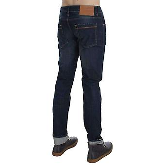Blue Wash Cotton Stretch Slim Skinny Fit Jeans -- SIG3599877