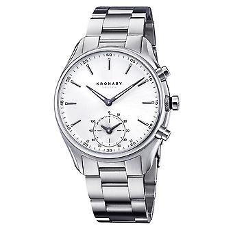 Kronaby S0715-1 Men's Sekel Hybrid Smartwatch Steel Bracelet