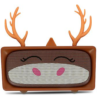 Cute deer Wireless bluetooth Speaker Microphone 6H-MOB, Brown