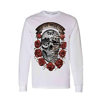 Unisex Long Sleeve Shirt Dia de los Muertos Sugar Skull