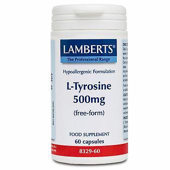 Lamberts L-Tyrosine 500mg Caps 60 (8329-60)