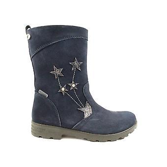 Ricosta Steffi 7224600-170 Navy Suede leer meisjes lange been laarzen