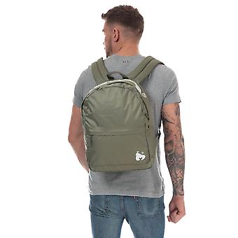 Money Black Label Back Pack In Green- One Main Zip Compartment- Zip Pocket To