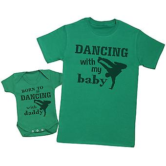 ولد للذهاب الرقص مع بابا مطابقه الأب الطفل هديه مجموعه-الرجل تي شيرت & ارتداءها الطفل