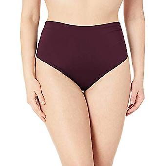 Anne Cole Women's Plus-Size High Waist Fold Over, New Aubergine, Size 18.0