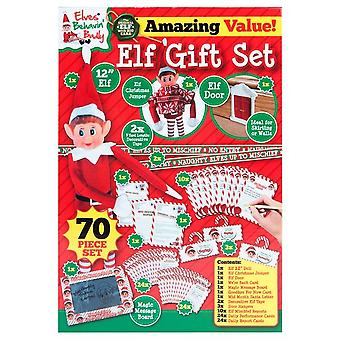 Elves Behavin Badly Big Elf Toy And Stationery 70 Piece Gift  Set