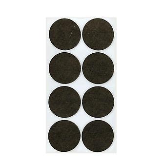 Diámetro redondo del disco de fieltro marrón 6 cm (8 piezas)