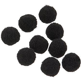 Pom Poms .25 -quot; 100/Pkg-Black, Noir, Taille Sans Taille