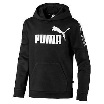 Puma Amplified Fleece Over Head Kids Fashion Bluza z kapturem Czarna