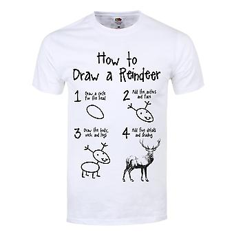 Grindstore Mens How To Draw A Reindeer T Shirt