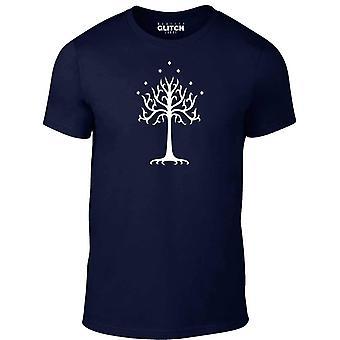 Árvore branca dos homens ' s do t-shirt do Gondor
