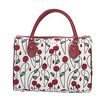 Mackintosh-bolso de viaje rosa simple de signare Tapestry/trav-RMSP
