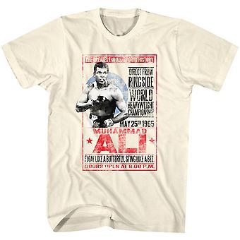 كلاسيكيات أمريكية محمد علي 1965 ملصق تي شيرت - طبيعي