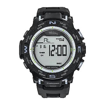 Tekday 655854 Watch - Digital Multifunction Silicone Black Men
