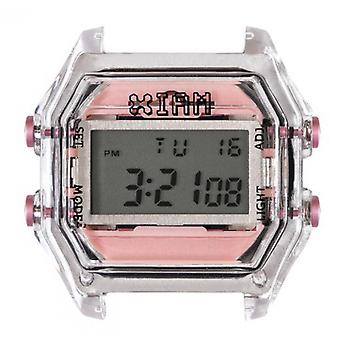 Watch I Am The Watch IAM-015 - Bo tier Translucent Buttons Rose Clear / Horn 18 mm
