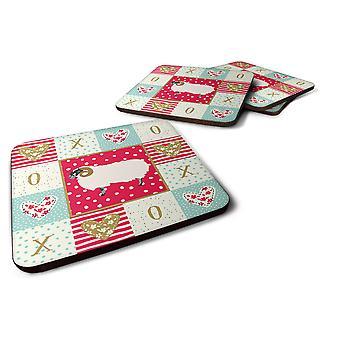 Set of 4 Scottish Blackface Sheep Love Foam Coasters Set of 4