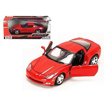 2005 Chevrolet Corvette C6 Coupe Red 1/24 Diecast Model Car By Motormax