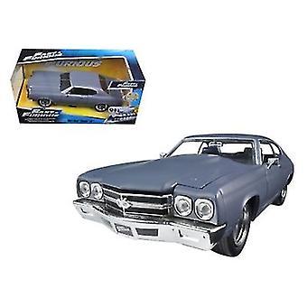 Dom\'s Chevrolet Chevelle SS Matt Gray \Fast & Furious\ Movie 1/24 Diecast Model Car by Jada