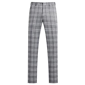 Allthemen mænd ' s plaid casual bukser tykke straight fit bukser